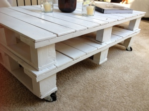 A simple 2-pallet stack makes a nice coffee table
