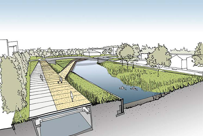 Rendering of proposed New Orleans Urban Water Plan. Image from blog.archpaper.com