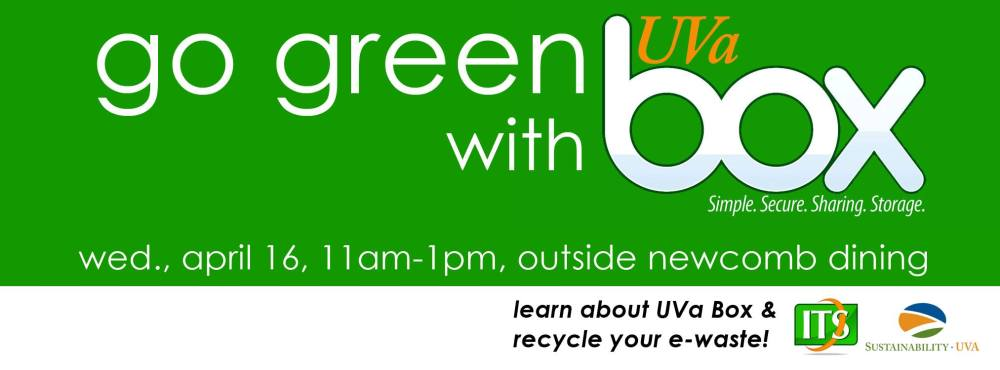 Go Green with UVa Box!