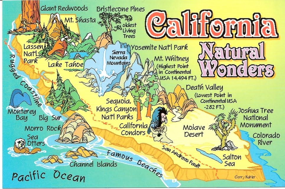 Atlas California Map Attractions – California Tourist Attractions Map