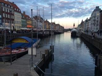 Beautiful view of Nyhavn in Denmark